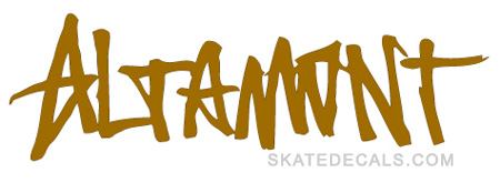 2 Altamont Skate Stickers Decals