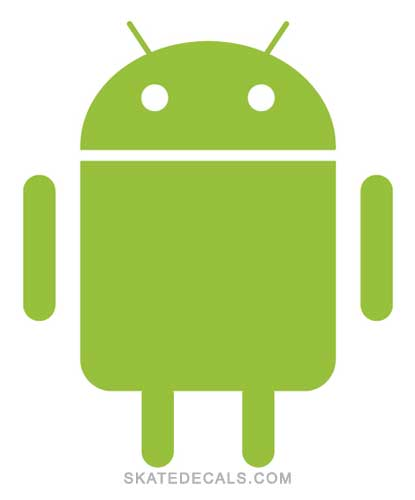 2 Android Logo Stickers Decals