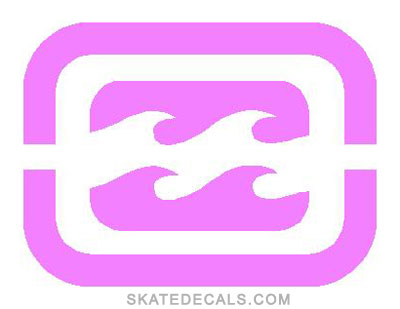 2 Billabong Wave Square Stickers Decals