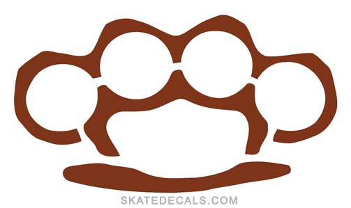 2 Brass Knuckles Stickers Decals