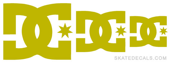 2 DC Shoes Pack Logo Stickers Decals