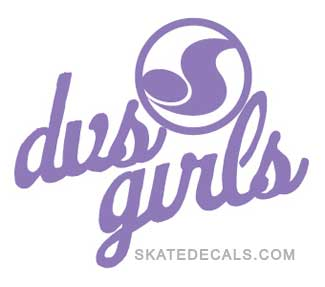 2 DVS Girls Shoes Logo Stickers Decals