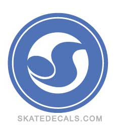 2 DVS Shoes Circle Logo Stickers Decals