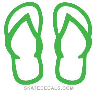 2 Flip Flops Stickers Decals
