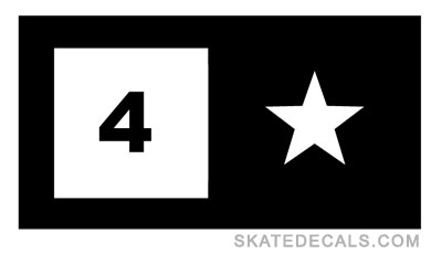 2 Fourstar Skateboard Stickers Decals