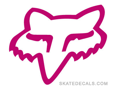 2 fox racing head logo sticker