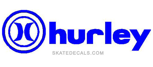 2 Hurley Logo Stickers Decals