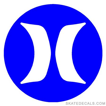 2 Hurley H Circle Logo Stickers Decals