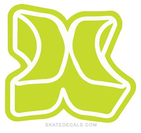 2 Hurley H Logo Stickers Decals
