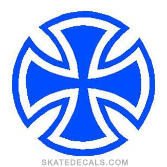 2 Independent Cross Stickers Decals