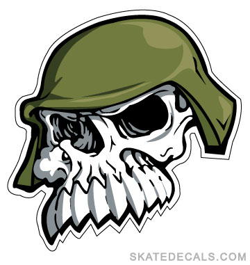 2 Metal Mulisha Skull Teeth Stickers Decals