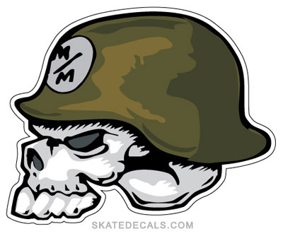 Next 2 Metal Mulisha Skull Helmet Stickers Decals