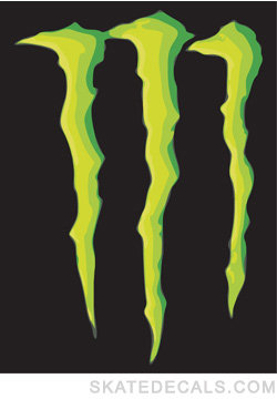 2 Monster Energy Logo Stickers Decals