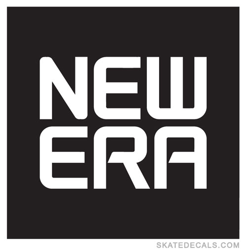 2 New Era Square Logo Stickers Decals