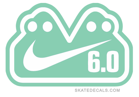 2 Nike SB 6.0 Stickers Decals