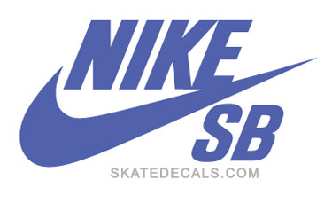2 Nike SB Logo Stickers Decals