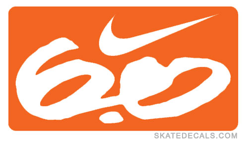 2 Nike Swoosh 6.0 Boxed Stickers Decals