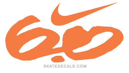 2 Nike Swoosh 6.0 Stickers Decals