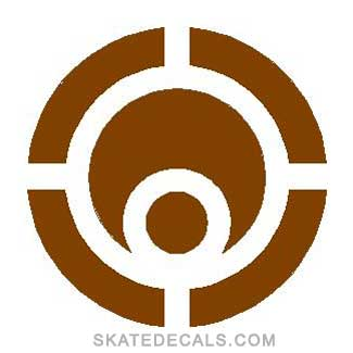 2 Osiris Circle Stickers Decals