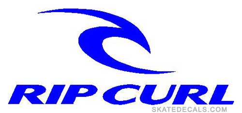 2 Rip Curl Logo Stickers Decals