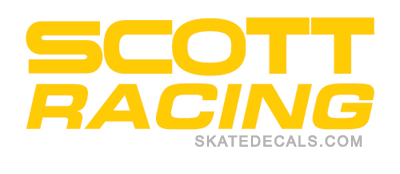 2 Scott Racing Logo Stickers Decals