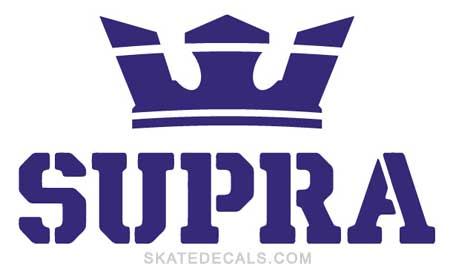 2 Supra Footwear Stickers Decals